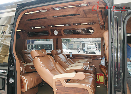sapa bus ticket - xe luxury van